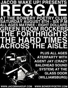 Bowery Poetry Club 8/8/09 Flier