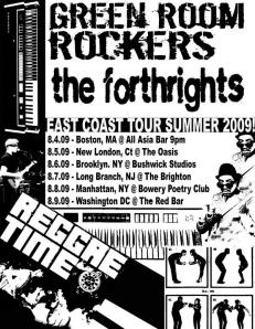 Green Room Rockers Tour Flier