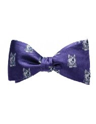 OoOTie Boston Purple Husky Bow Tie