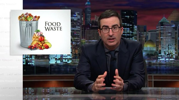 John Oliver Food Waste YouTube Screenshot